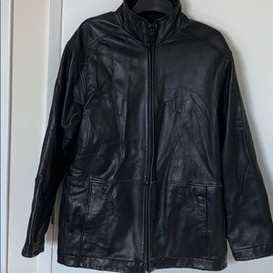 Other - Vintage Baggy Leather Jacket